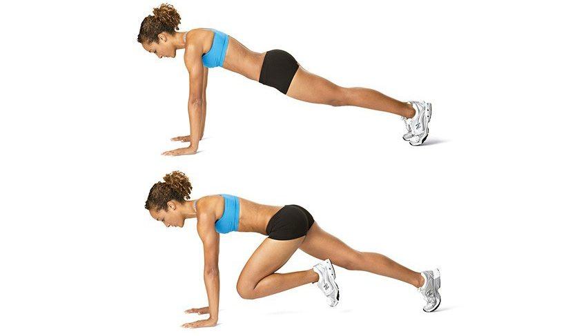 Упражнение скалолазы